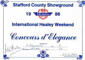 HEALEY CONCOURS