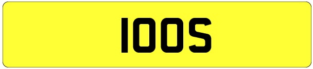 100S number plate